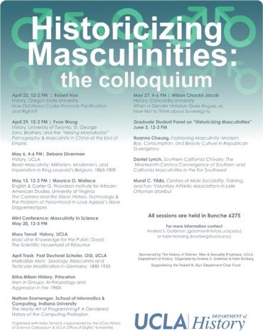 Historicizing Masculinities Colloquium