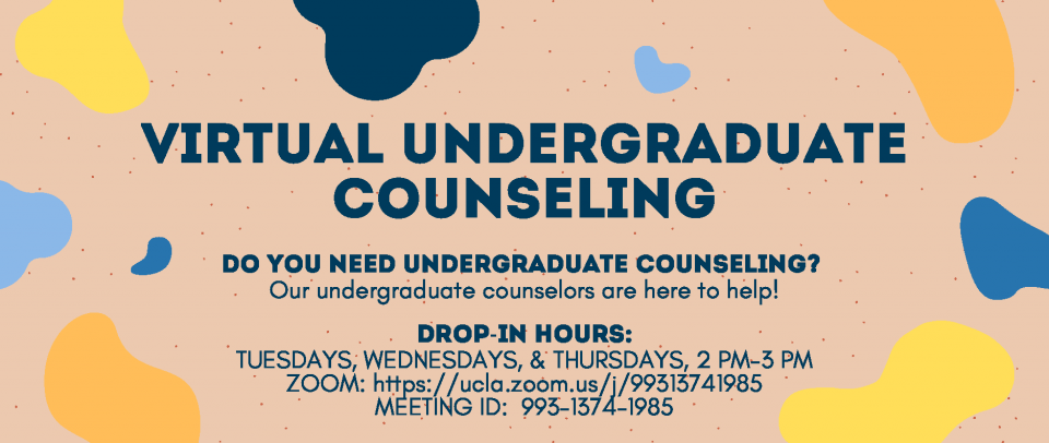History Student Affairs Office Drop-In Counseling